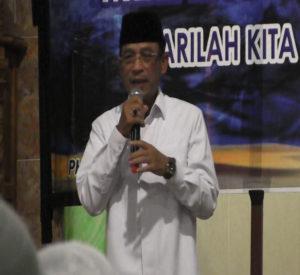 Wakil Bupati Penajam Paser Utara, Kalimantan Timur, Mustaqim MZ, menghadiri peringatan Isra Miraj di Masjid AT Taqwa Kelurahan Sotek, Kecamatan Penajam, Rabu (Indra Jaya Wiyono - Humas Setkab Penajam Paser Utara)