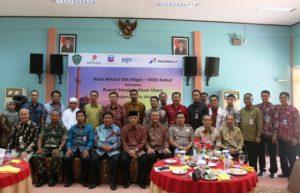 Bupati Penajam Paser Utara Yusran Aspar beserta Wakil Bupati Mustaqim MZ menghadiri halal bihalal yang digelar SKK Migas KKKS Wilayah Kalimantan-Sulawesi (Subur Priono - Humas Setkab Penajam Paser Utara)