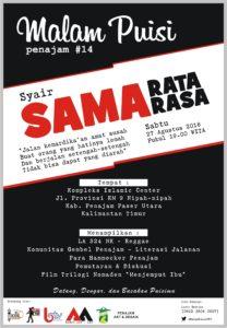 Flyer Malam Puisi Penajam ke 14. (CAM - Hello Borneo)