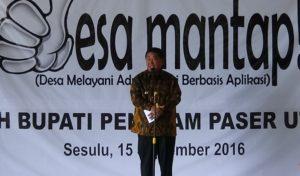 Bupati Penajam Paser Utara, Yusran Aspar secara resmi luncurkan Desa Mantap (AH Ari B - Hello Borneo)