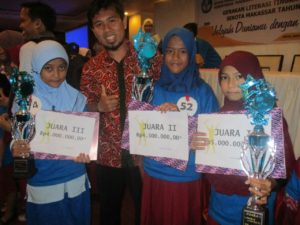 Program Budaya Baca, siswa ini peroleh penghargaan Balai Bahasa Sulsel. (Ist)