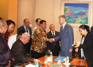 Pertemuan di Jakarta bersama PT Waskita Karya, Gubernur Kalimantan Timur, dan Walikota Balikpapan  membahas jembatan Penajam-Balikpapan (Subur Priono - Humas Setkab PPU)