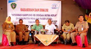 Sarasehan dan Diskusi Integrasi Kampung Keluraga Berencana dengan Mitra Kerja, di Kampung KB Kebupaten Penajam Paser Utara (Iskandar - Humas Setkab Penajam Paser Utara).
