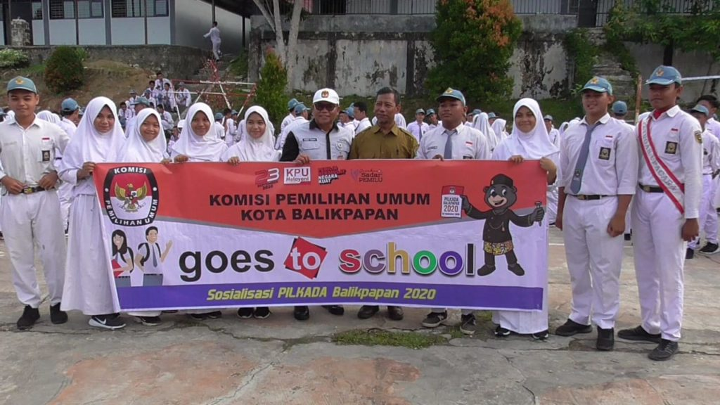KPU Kota Balikpapan Gencar Sosialisasi Pelajar. (Aditya - Hello Borneo)
