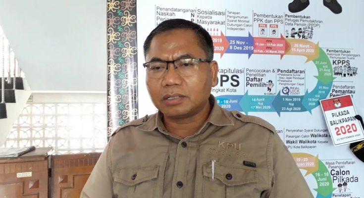Ketua Komisis Pemilihan Umum (KPU) Kota Balikpapan, Noor Thoha. (Aditya - Hello Borneo)