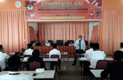 Komisi Pemilihan Umum (KPU) Kota Balikpapan melantikan kepada 102 Panitia Pemilihan Suara. (Ist)