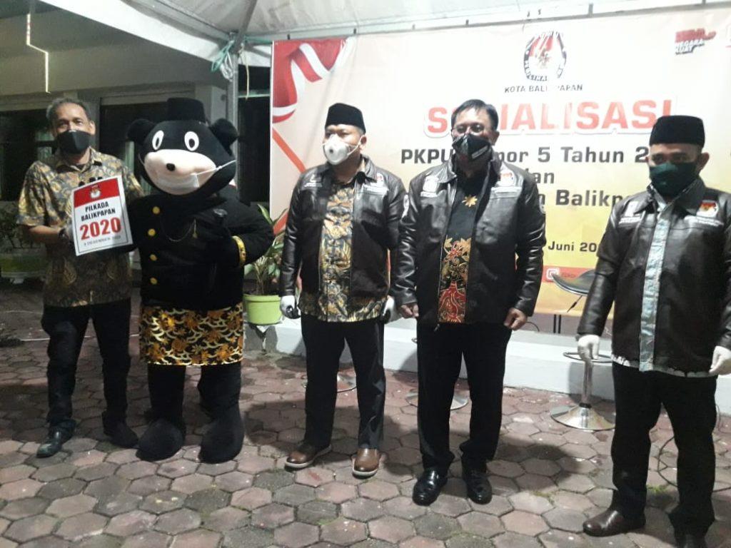 KPU Kota Balikpapan kembali gelar re-launching sekaligus sosialisasi mengenai Peraturan KPU - PKPU Nomor 5 Tahun 2020 tentang Tahapan dan Jadwal Pilkada yang akan dilaksanakan 9 Desember nanti. (Ist)