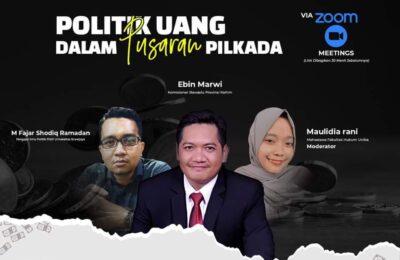 Politik Uang dalam Pusaran Pilkada. (Flyer)