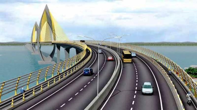 Desain Jembatan Tol Teluk Balikpapan. (Ist)