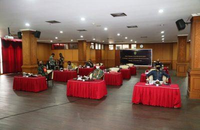 Dok. Rapat koordinasi dalam rangka penanganan covid 19 di Kalimantan Timur.