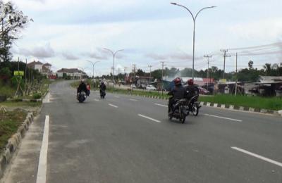 Jalan Kilometer Sembilan Kecamatan Penajam.
