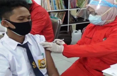 Dok. Pemberian Vaksinasi Bagi Pelajar di Kota Balikpapan.