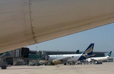 Sejumlah pesawat terparkir di tarmac Bandara Internasional Islamabad, Pakistan, 8 Mei 2018. (Foto: Aamir Qureshi/AFP/arsip)