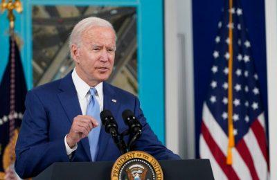 Presiden AS Joe Biden dijadwalkan akan menjamu Presiden Kenya Uhuru Kenyata di Gedung Putih. (AP Photo/Susan Walsh)