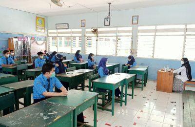 Total 16 SMP sederajat di Kabupaten Paser telah melaksanakan pembelajaran tatap muka. (TBS)