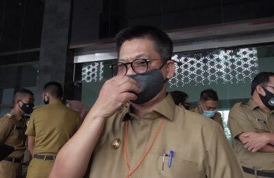 Calon Gubernur Kaltara (Pertahana), Irianto Lambire ditemui usai menghadiri acara pelatihan kewirausahaan, di Aula Gedung Gabungan Dinas, Selasa (03/08/20). (ES Yulianto)