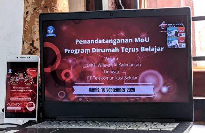 Program Paket Data Perkuliahan Online di Kalimantan. (Ist)