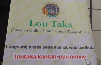 Layanan umum tatap muka berbasis daring (online) Lou Taka