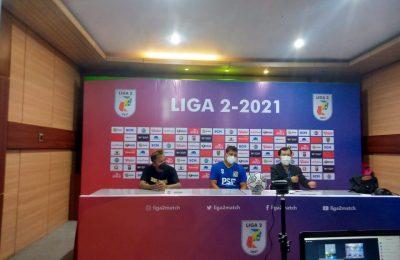 Saat media Tim memberikan keterangan Pers Kompetisi Liga 2. (Ist)