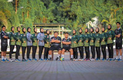 Tim Bola Tangan Putri Kalimantan Timur yang berlaga di PON Papua 2021. (Ist)