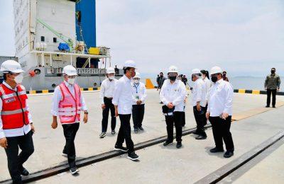 Presiden Joko Widodo meresmikan Terminal Multipurpose Wae Kelambu Pelabuhan Labuan Bajo. (Ist)