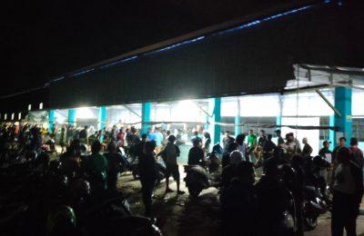 Suasana malam jelang partai final. (TBS)
