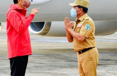 Presiden Jokowi tiba di Pangkalan TNI AU Anang Busra, Kota Tarakan. (Ist)