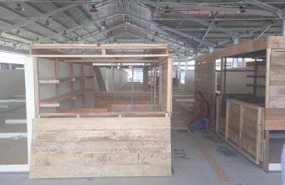 Gedung baru Pasar Penyembolum. (TBS)